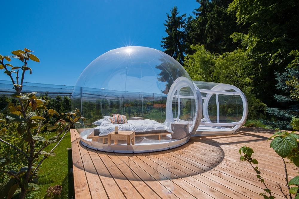 Bubble Hotel unter Himmelszelt